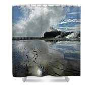 D09130-dc Cloud And Steam Reflect Shower Curtain