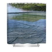 D09131 Gps Reflection Shower Curtain