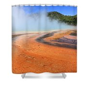 D09132 Colorful Grand Prismatic Spring Shower Curtain