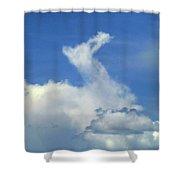 D09148-dc Cloud Camel Shower Curtain
