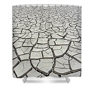 D17845-dried Mud Patterns  Shower Curtain