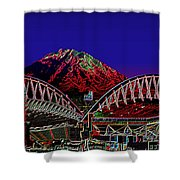 Da Mountain And Stadia 3 Shower Curtain