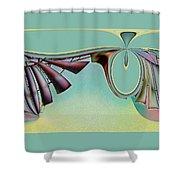 Da Vinci's Nudge Shower Curtain