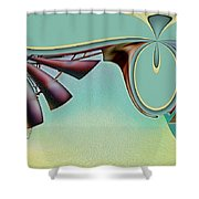Da Vinci's Nudge Shower Curtain by Wendy J St Christopher