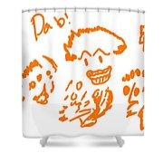 Dab Shower Curtain