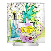 Dabs And Coffee  Shower Curtain
