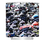 Harley-davidson Rally Shower Curtain