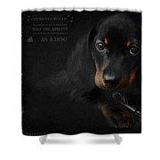 Dachshund - Puppy Love Shower Curtain