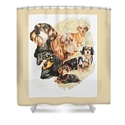 Dachshund Revamp Shower Curtain