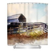 Dad' Farmhouse Shower Curtain