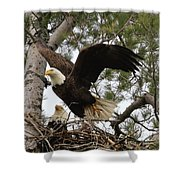 Dad Leaving The Nest Shower Curtain