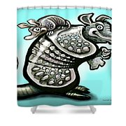 Daddy Dillo Shower Curtain
