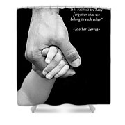 Daddy's Hand Shower Curtain