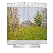Dad's Barnyard Shower Curtain