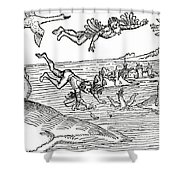 Daedalus And Icarus Shower Curtain