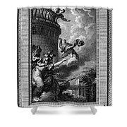 Daedalus And Perdix Shower Curtain