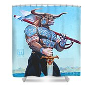Daedalus Minotaur Of Crete Shower Curtain