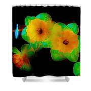 Daffodil Glow Shower Curtain