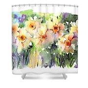 Daffodil's Dancing Shower Curtain