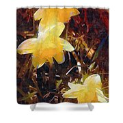 Daffs Gone Goth Shower Curtain