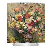 Dahlias Shower Curtain