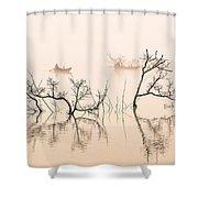 Dai Ninh Lake, Vietname Shower Curtain
