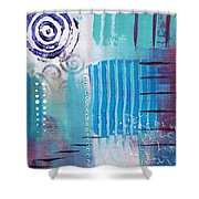 Daily Abstract Four Shower Curtain