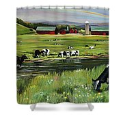 Dairy Farm Dream Shower Curtain