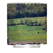 Dairy Farm In The Finger Lakes Shower Curtain
