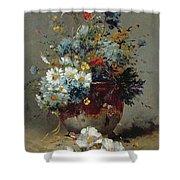 Daisies And Cornflowers Shower Curtain