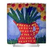 Daisies Flowers   Shower Curtain