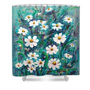 Daisies Golden Eyed Shower Curtain