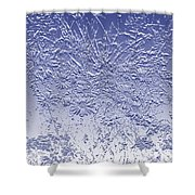 Daisies In Blue Shower Curtain