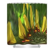 Daisy Abstract 032317-6357-4cr Shower Curtain