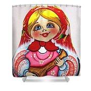 Daisy Balalaika Chime Doll Shower Curtain
