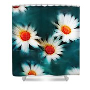 Daisy Blue Shower Curtain
