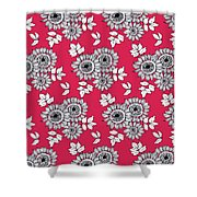 Daisy Flower Bouquet Shower Curtain