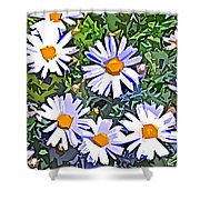 Daisy Flower Garden Abstract Shower Curtain