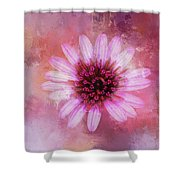 Daisy In Magenta Shower Curtain