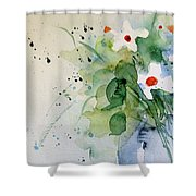 Daisy In The Vase Shower Curtain