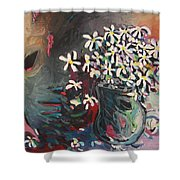 Daisy In Vase Shower Curtain