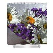 Daisy Mix Shower Curtain