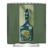 Daisy Paint Brush Shower Curtain