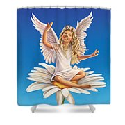 Daisy - Simplify Shower Curtain by Anne Wertheim