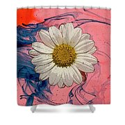 Daisy Swirls 1 Shower Curtain
