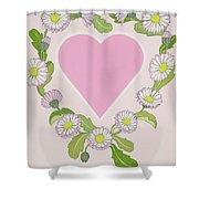 Daisy Valentine Shower Curtain