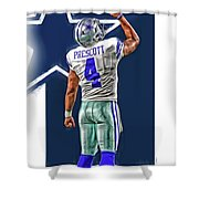 Dak prescott dallas cowboys oil art series 2 art print by for Dak prescott coloring pages