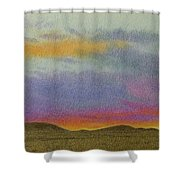 Dakota Sunset Glow Shower Curtain