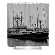 Dalena Black And White Shower Curtain
