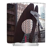 Daley Plaza Picasso Shower Curtain